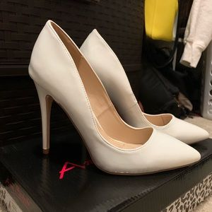 DSW Shoes | Dsw White Pumps Worn Once